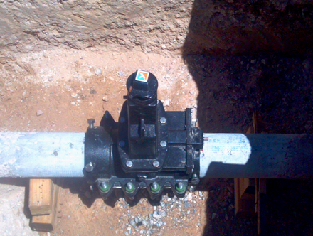 Tap Master, Inc. - 8 inch valve insertions on ACP/Transite pipe