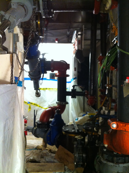 Tap Master, Inc. - Four 12 inch line stops UCSF in a tight space